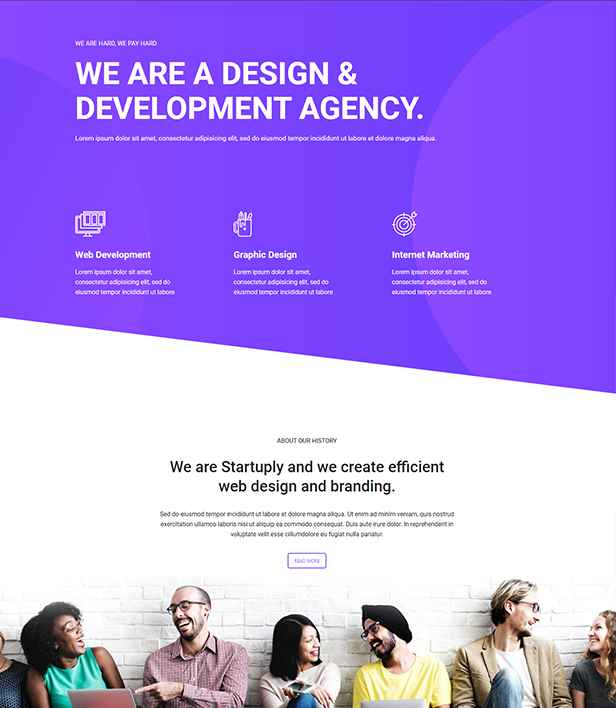 Development Agency Landing Page Template - Layouts for WPBakery