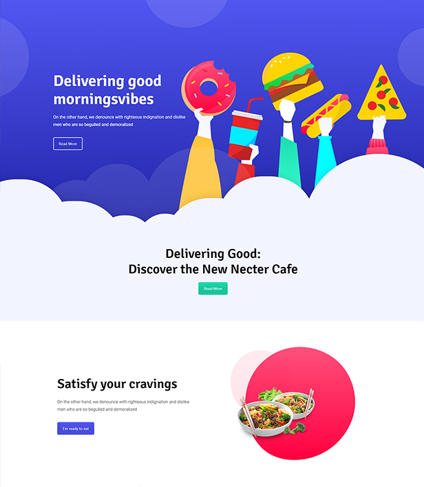 Nectar Cafe Landing Page Template - Layouts for WPBakery