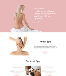 Spa Landing Page Template - Layouts for WPBakery