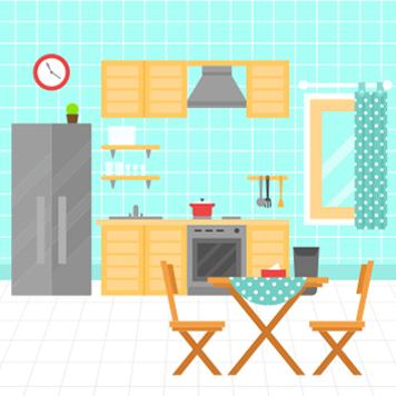 Kitchen Rooms Services Symbol