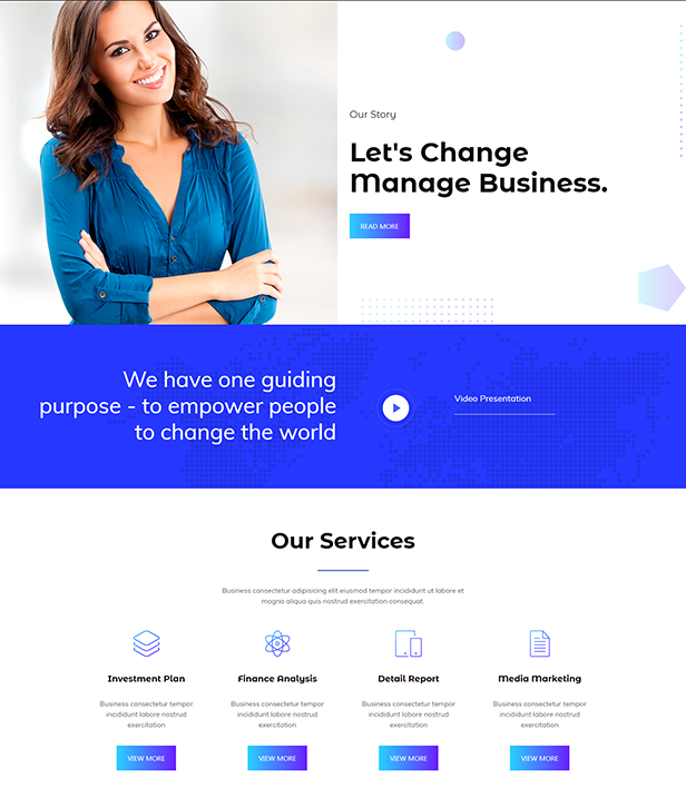Business Corporate Landing Page Template - Layouts for WPBakery