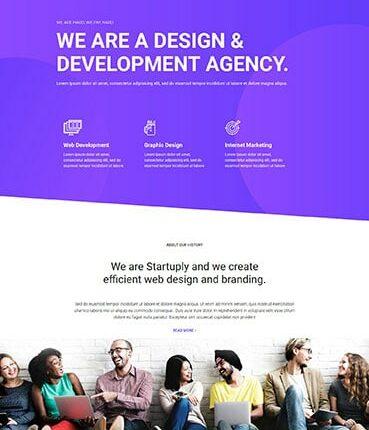 Development Agency Page Layout