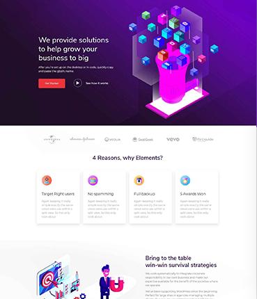Marketing Landing Page Layout