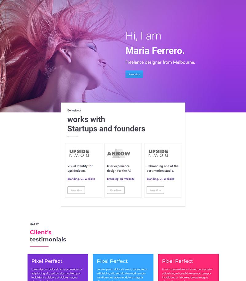 Portfolio Landing Page Layout
