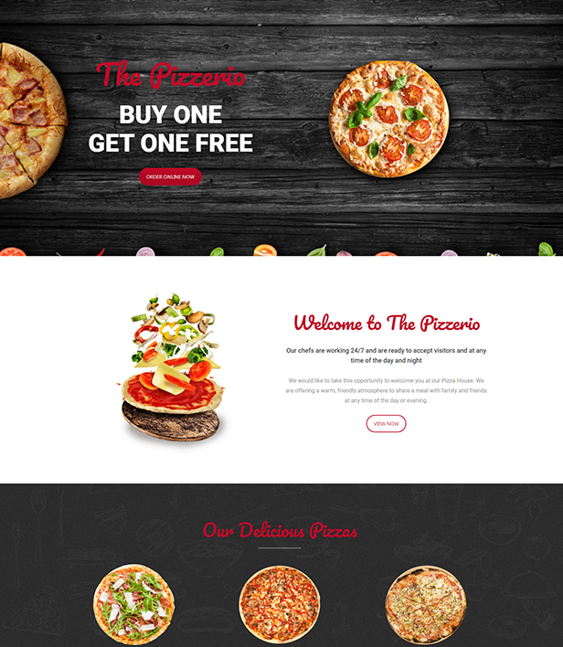 The Pizzerio Landing Page Template - Layouts for WPBakery
